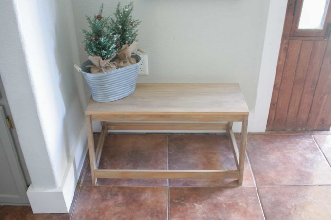 Small wooden bench