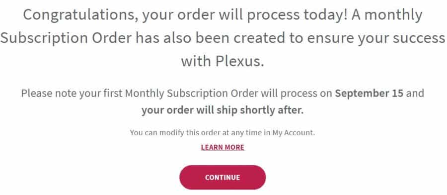 8. Subscription Order Is Placed