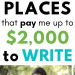 Secret Places to Get Paid to Write