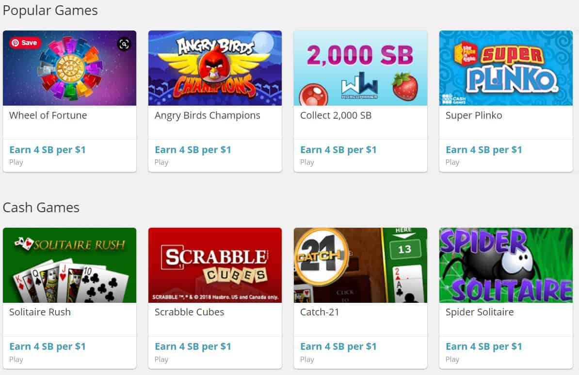 Swagbucks games that pay you to play