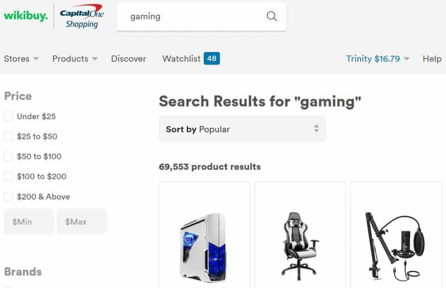 Wikibuy gaming screenshot