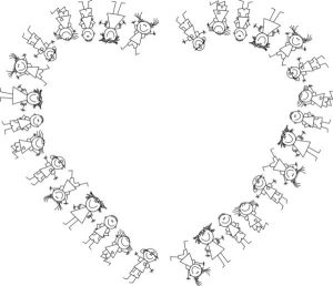 heart-kids-playing-outline-300x258