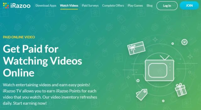 iRazoo Get Paid to Watch Videos Online